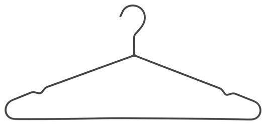 kledinghangers metaal zwart 3 stuks - 39891029 - HEMA