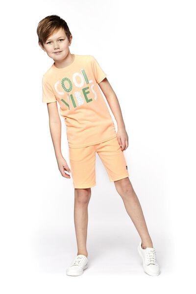 kinder t-shirt oranje 134/140 - 30769731 - HEMA