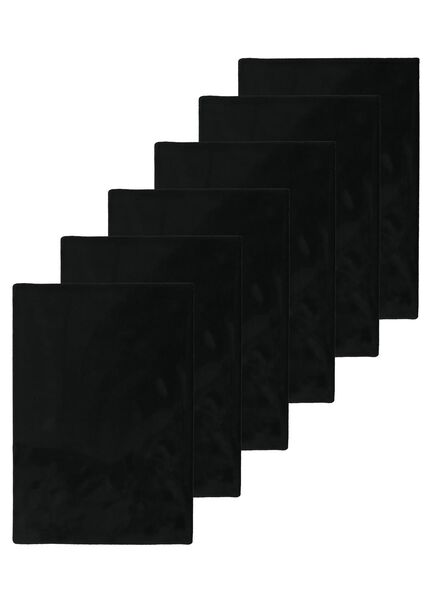 Rekbare boekenkaften zwart - 6 stuks