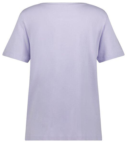 dames t-shirt lila XL - 36390489 - HEMA