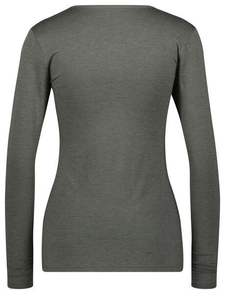 dames thermo t-shirt grijsmelange S - 19656941 - HEMA