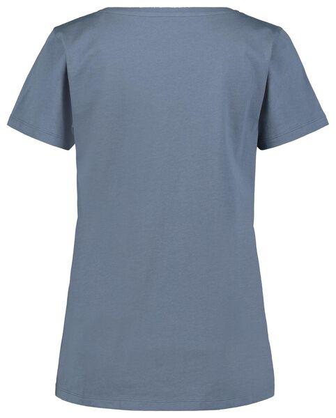 dames shortama streep blauw L - 23400583 - HEMA