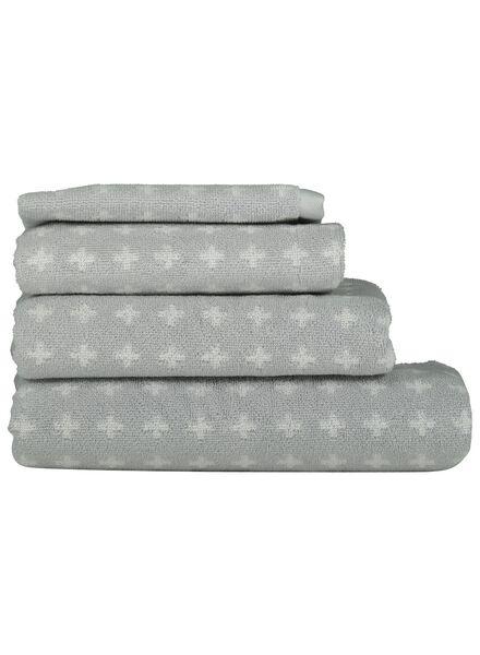 Handdoeken - zware kwaliteit - kruisje lichtgrijs lichtgrijs - 1000015754 - HEMA
