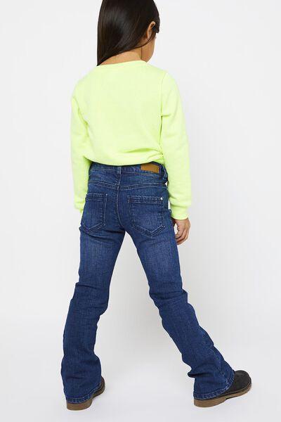kindersweater 'love today' fluor geel 98/104 - 30840871 - HEMA