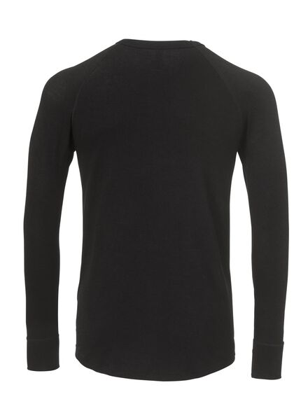 heren thermo t-shirt zwart zwart - 1000000966 - HEMA