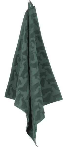 keukendoek - 52 x 52 - katoen - groen teckel - 5400136 - HEMA