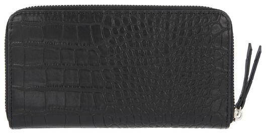 Dagaanbieding - portemonnee croco zwart dagelijkse koopjes
