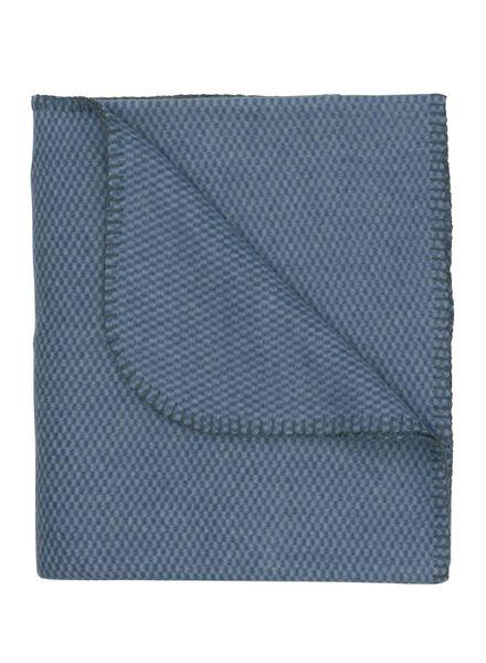 fleece plaid 130 x 150 cm blauw - 7391026 - HEMA
