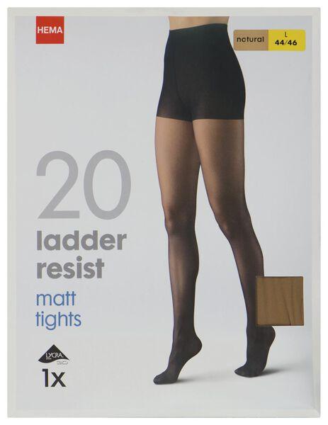 panty ladder resist 20denier naturel naturel 48/52 - 4070024 - HEMA
