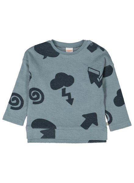 babysweater lichtblauw lichtblauw - 1000014305 - HEMA