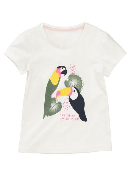 kinder t-shirt gebroken wit - 1000007699 - HEMA