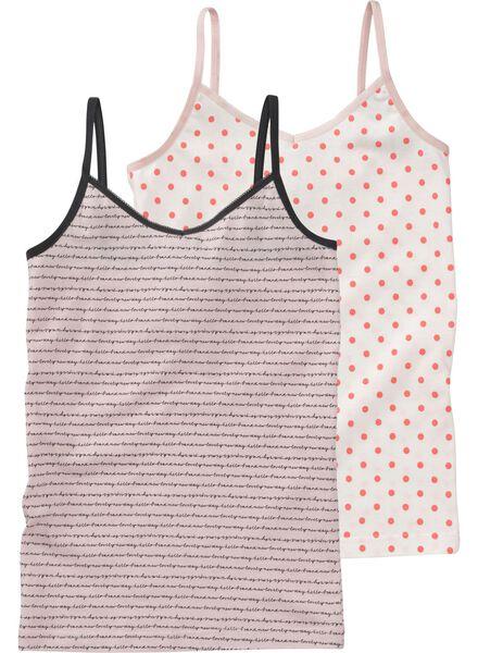 2-pak meisjeshemden - roze lichtroze lichtroze - 1000008952 - HEMA