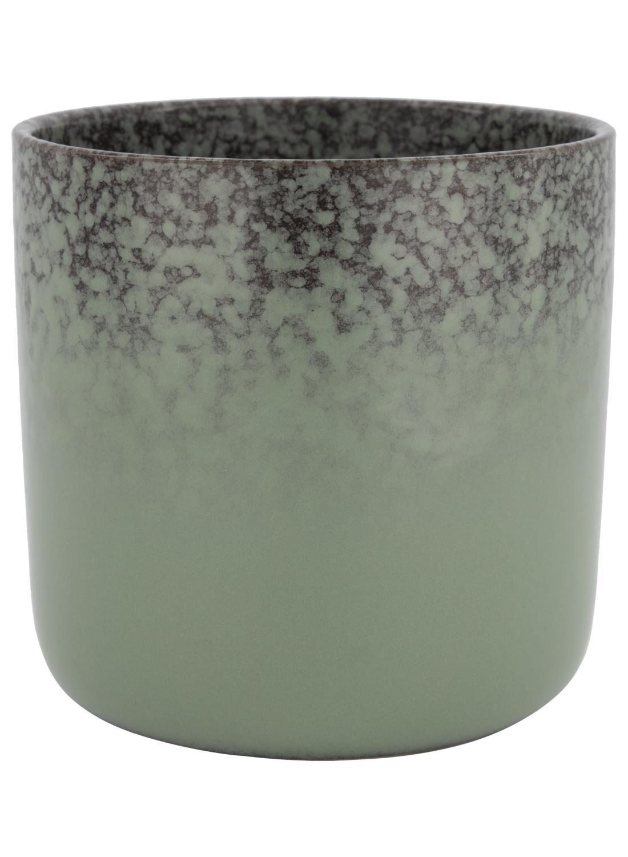 HEMA Bloempot Ø 17.5 Cm - Reactief Glazuur - Groen (groen)
