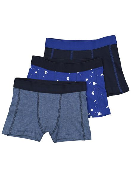 3-pak kinderboxers blauw blauw - 1000014604 - HEMA