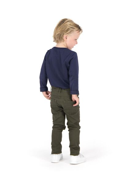 kinder t-shirt - biologisch katoen donkerblauw 86/92 - 30719328 - HEMA