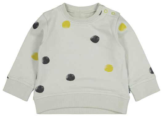 newborn sweater stippen blauw - 1000021189 - HEMA