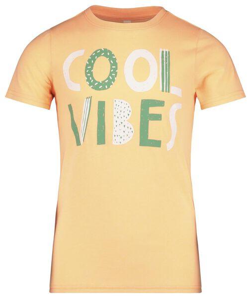 kinder t-shirt oranje 98/104 - 30769728 - HEMA