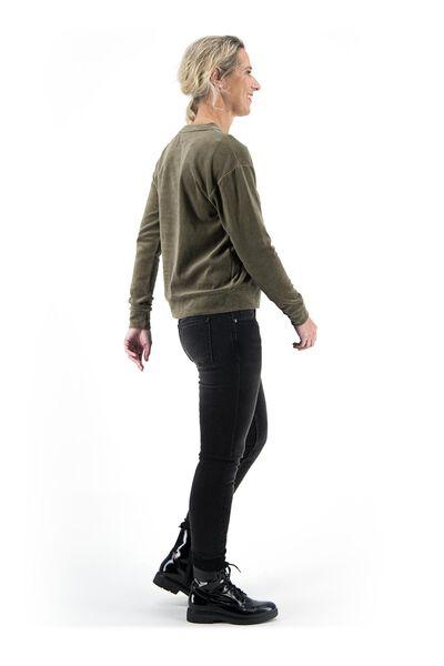 damessweater olijf olijf - 1000018251 - HEMA