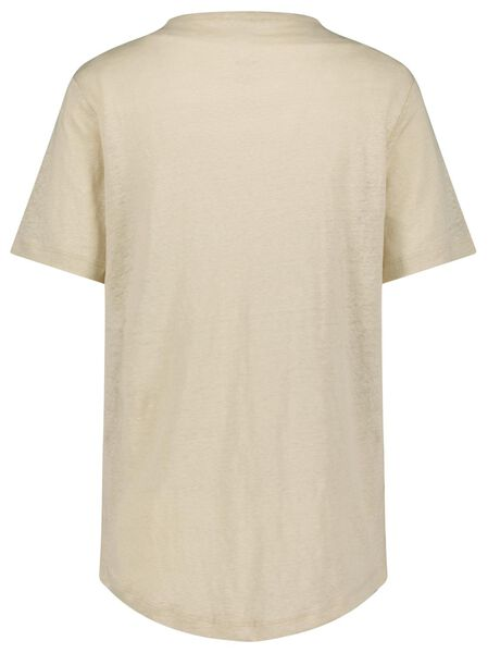 dames t-shirt linnen gebroken wit - 1000024252 - HEMA