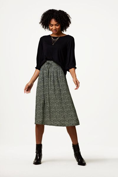 dames t-shirt zwart L - 36208068 - HEMA