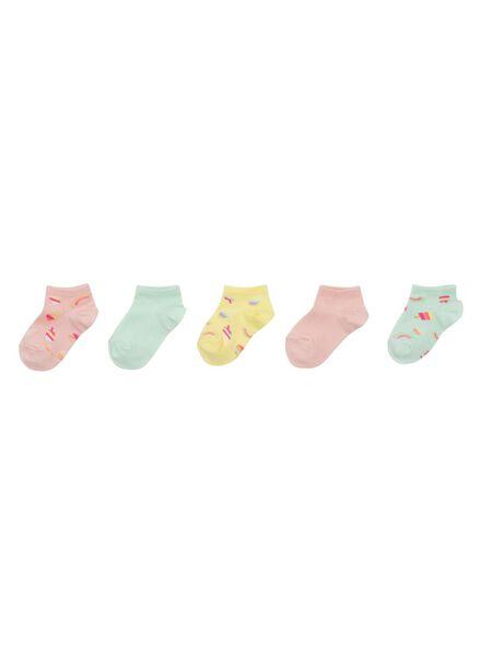 5-pak kinder enkelsokken multicolor multicolor - 1000011730 - HEMA