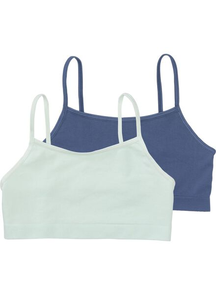 2-pak kinder softtops - naadloos donkerblauw donkerblauw - 1000006514 - HEMA