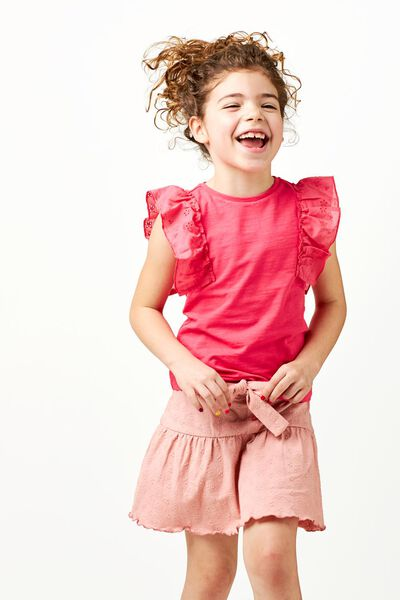 kinderrok broderie roze 98/104 - 30896705 - HEMA