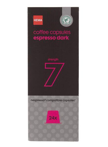 koffiecups espresso dark - 24 stuks - 17130008 - HEMA