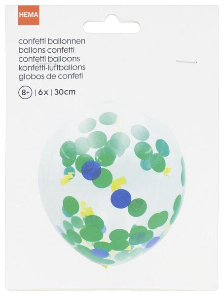 confetti ballonnen 30cm stip/bliksem - 6 stuks - 14200418 - HEMA