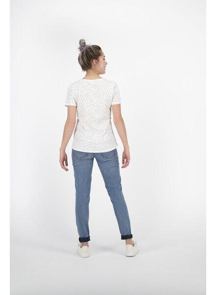 dames t-shirt gebroken wit gebroken wit - 1000011995 - HEMA