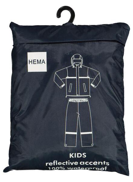 regenpak voor kinderen donkerblauw donkerblauw - 1000014937 - HEMA