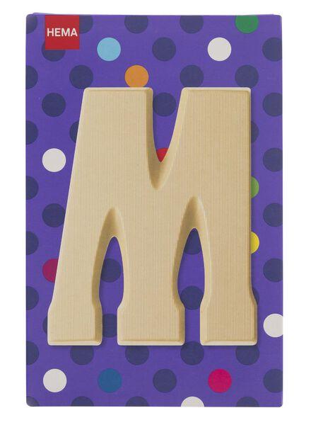 witte chocoladeletter M - 10037011 - HEMA