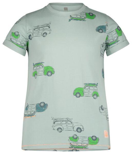 kinder t-shirt blauw blauw - 1000019159 - HEMA