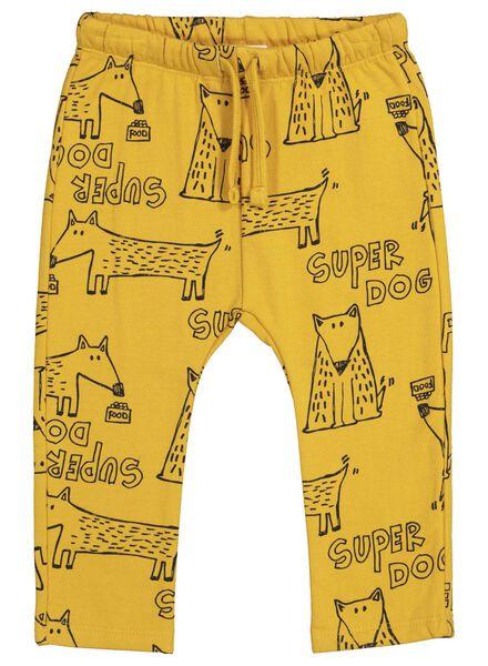 baby sweatbroek geel geel - 1000015560 - HEMA