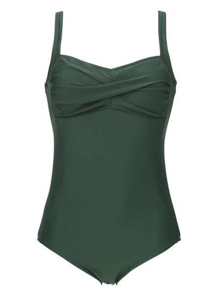 damesbadpak control groen XL - 22350374 - HEMA