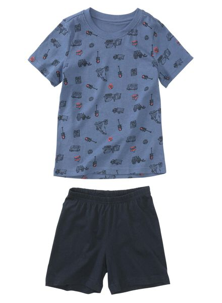 2-pak kindershortama's blauw blauw - 1000011764 - HEMA