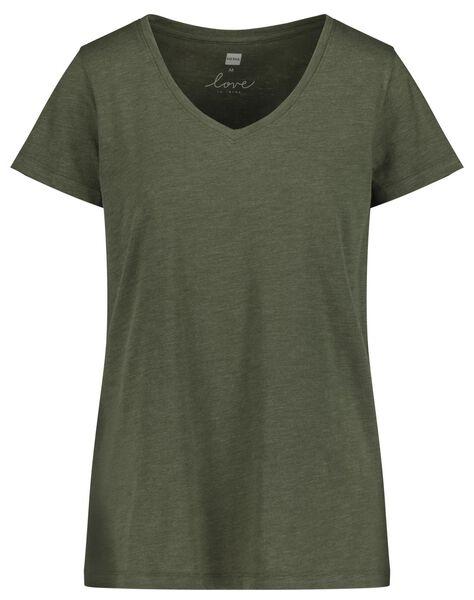 damesshortama groen groen - 1000018757 - HEMA