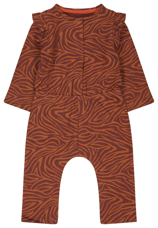 HEMA Baby Jumpsuit Zebra Oranje (oranje)