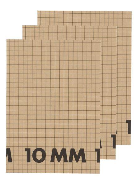 3-pak schriften A4 geruit 10 mm - 14170057 - HEMA