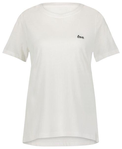 dames t-shirt love gebroken wit gebroken wit - 1000023979 - HEMA