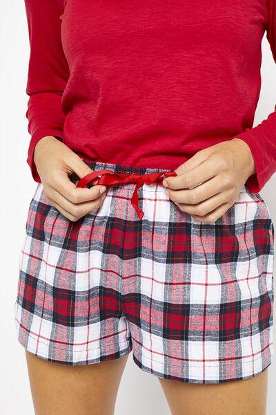 damespyjama rood L - 23420493 - HEMA