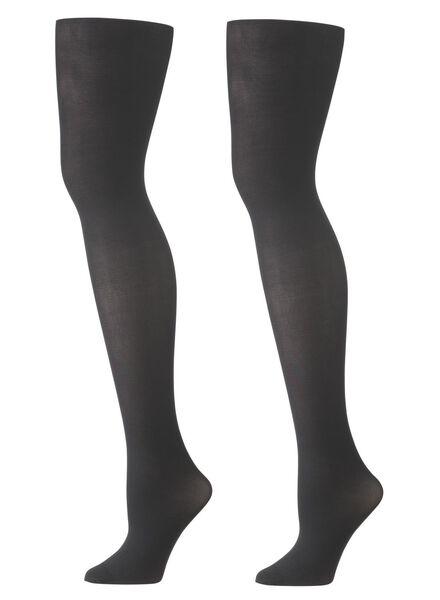 2-pak panty's 40 denier zwart zwart - 1000001140 - HEMA