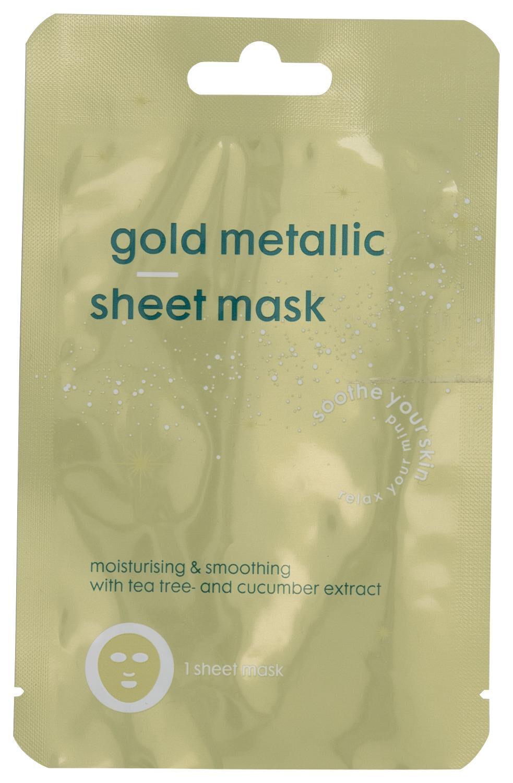 HEMA Goudkleurig Metallic Sheetmasker