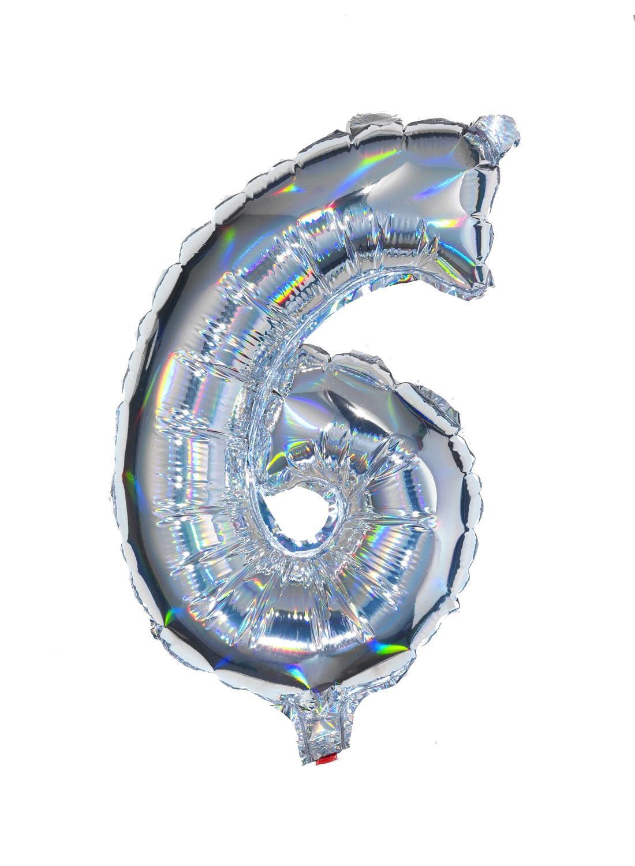 HEMA Folieballon 6 - Zilver (multicolor)