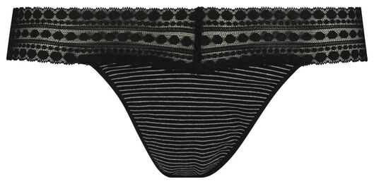 damesstring katoen zwart/wit zwart/wit - 1000018662 - HEMA