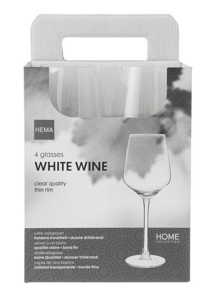 4-pak witte wijnglazen - 9401011 - HEMA