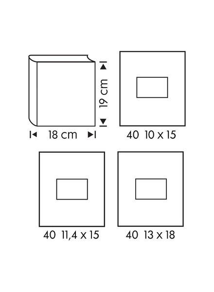 fotoalbum met venster 19x18 grijs - 14633321 - HEMA