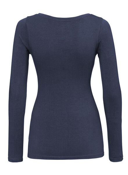 dames t-shirt donkerblauw donkerblauw - 1000005157 - HEMA