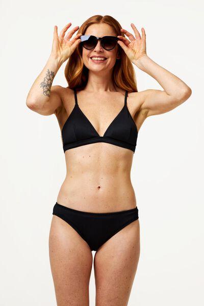 dames bikinibroekje - rib zwart M - 22340173 - HEMA
