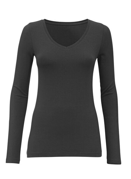 dames t-shirt zwart L - 36381769 - HEMA